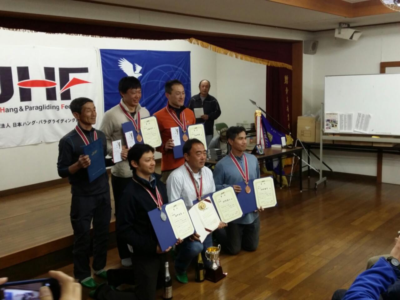 日本選手権閉会式